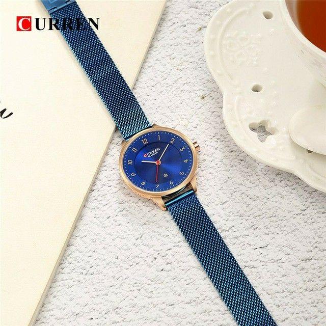 Relógio Feminino Curren Fashion Blue - Foto 2