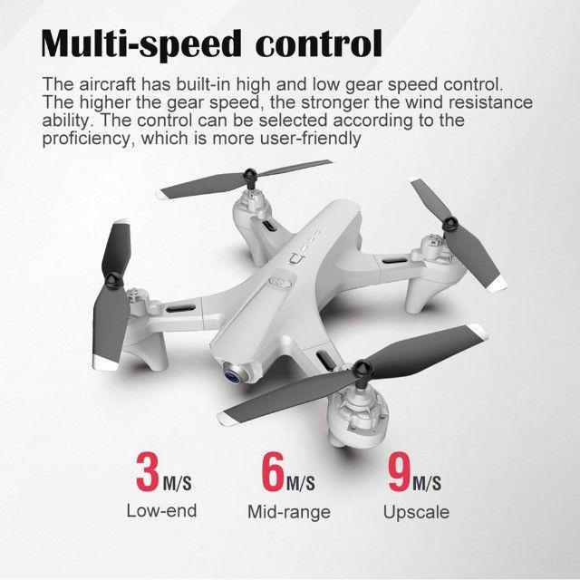 Drone Quadricóptero Rc Dobrável Com 4k Dual Hd Com Câmera Óptica Follow R$ 350,00 - Foto 3