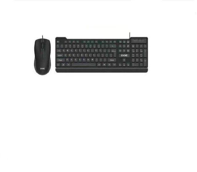 Kit teclado e mouse Usb com fio