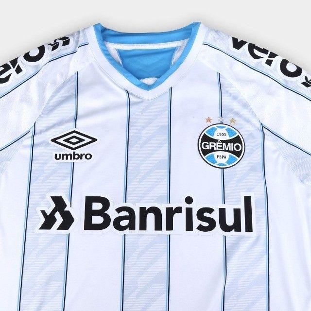 Camisa Grêmio II 20/21 s/n° Jogador Umbro Masculina - Foto 3