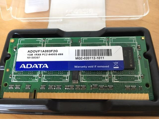 Memória 1gb ddr2 P/ Netbook- Adata 1rx8 Pc2-6400s-666