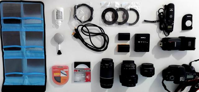 Canon 70 D + 3 lentes e acessorios - Foto 5