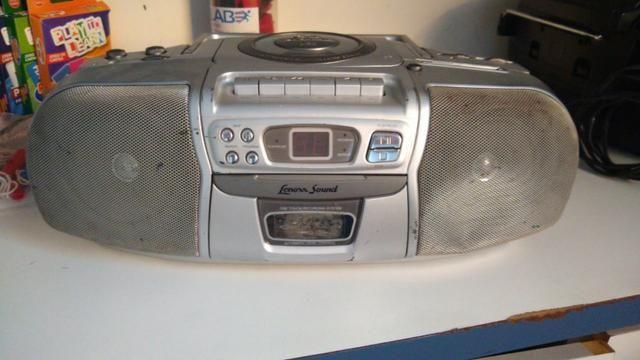 Radio cd player toca-fitas