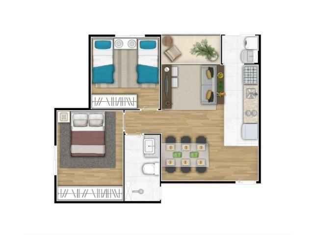 Código MA24 = Apartamento 50M² 2 dorms, varanda, 1 vaga. Vista Alegre II - Foto 6