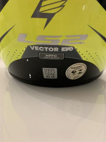 Capacete LS2 Vector EVO tamanho 64 - Foto 6