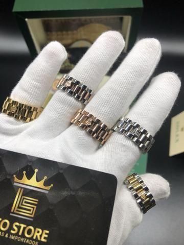 15bc6e28a59 R  229. Anel Rolex pulseira Rolex banhado a ouro pronta entrega todos os  tamanhos