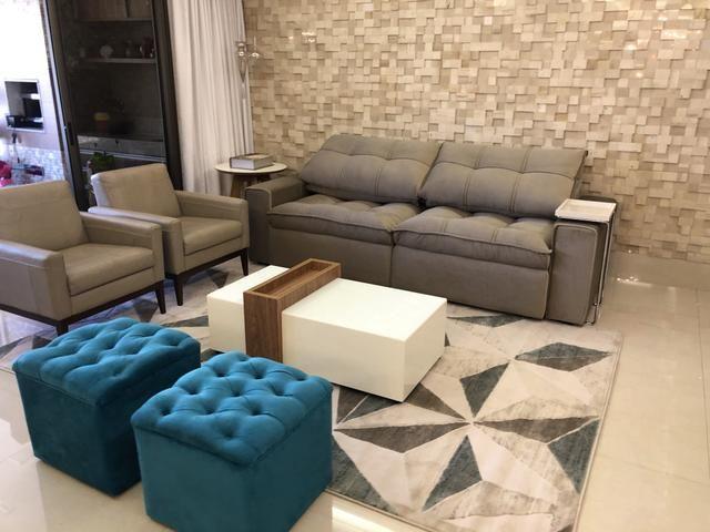 Sofá retrátil e reclinável fofão pronta entrega sofá ...