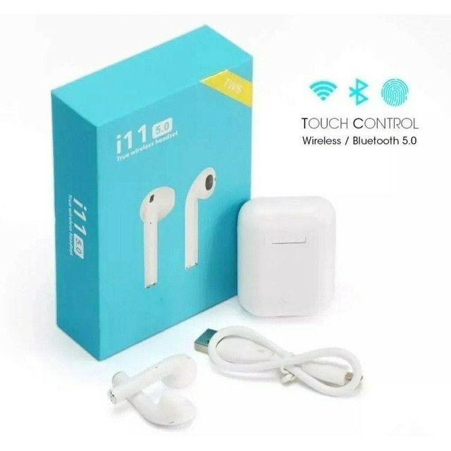 Fone De Ouvido touch iphone android I11 Tws Bluetooth Sem Fio Com Microfone Pronta entrega - Foto 2