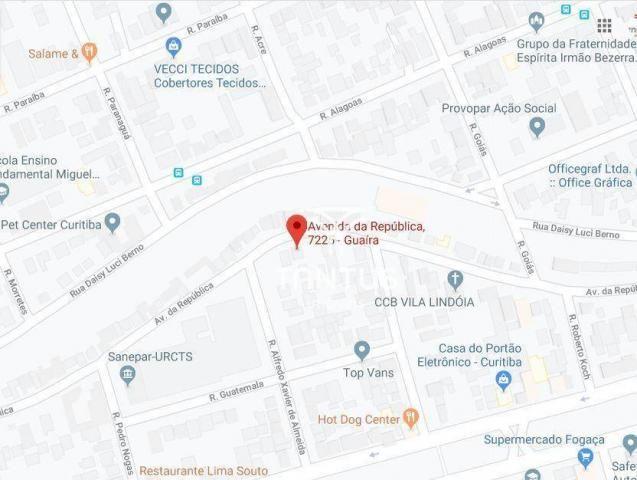 Terreno à venda, 651 m² por R$ 500.000 - Guaíra - Curitiba/PR