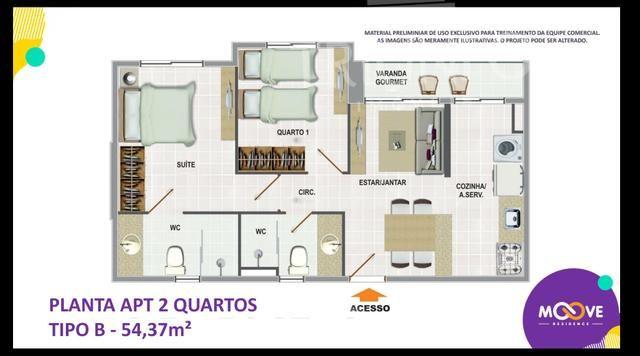 NZ - Apartamento na Planta/ 2 e 3 Quartos/ Elevador/ Porcelanato - Foto 4