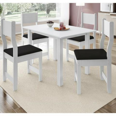 Mesa Dalas c/ 4 cadeiras branca *Oferta da semana * Faça seu pedido por whatsapp