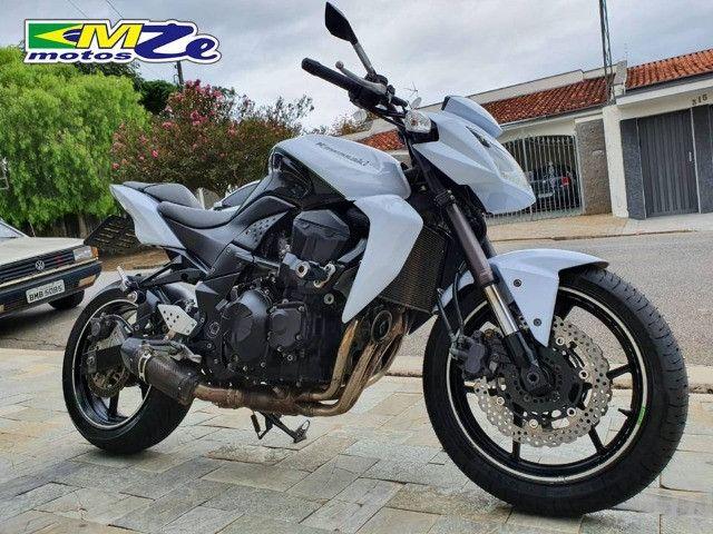 Kawasaki Z 750 2010 Branca com 64.000 km - Foto 7