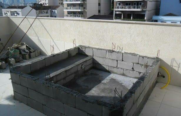 Construção de piscina de 6m2 ENTREGA NO REBOCO