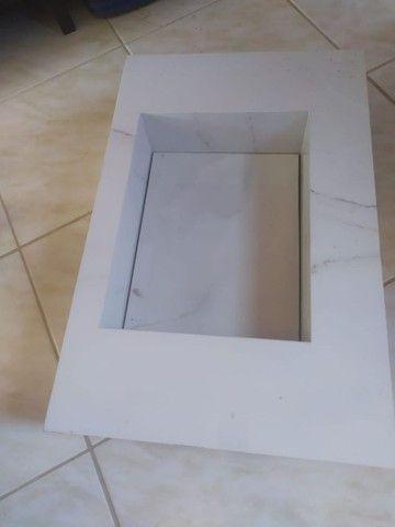 Pia de cerâmica para banheiro no ponto de estação..valor 450 reais conta: * - Foto 2