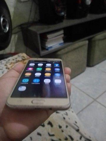 Samsung J7 metal pouco trincado em cima mas todo ok! - Foto 5