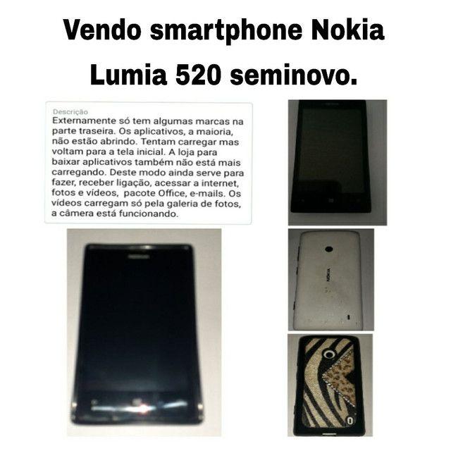 Vendo Smarthone, celular Nokia Lumia 520 seminovo.