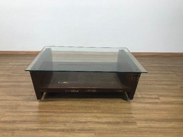 Mesa de Centro com Tampo de Vidro - Foto 2