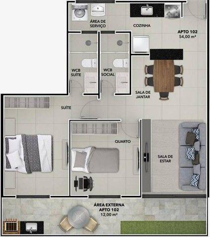 Apartamento para Venda em João Pessoa, Bessa, 2 dormitórios, 1 suíte, 2 banheiros, 1 vaga - Foto 6