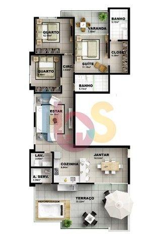 Apartamento à venda, 3 quartos, 3 suítes, 2 vagas, São Francisco - Ilhéus/BA - Foto 9