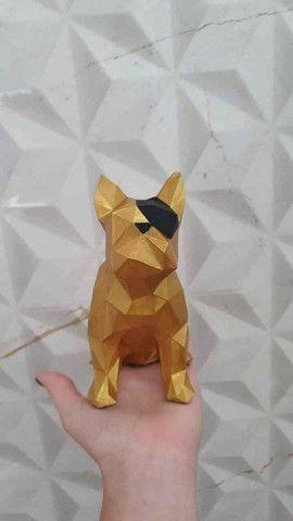 Bulldog Geométrico Decoração - Foto 2
