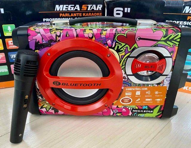 Caixa de Som URBAN SOUND 1500 W de potência! Bluetooth, Microfone e Controle Remoto