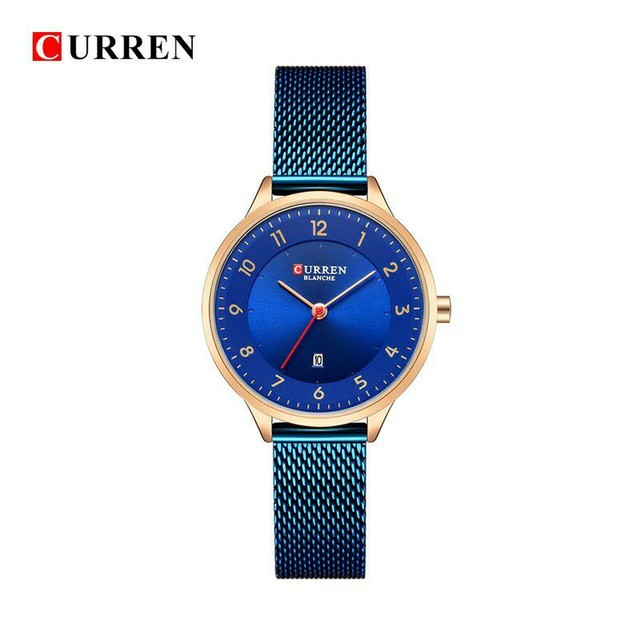 Relógio Feminino Curren Fashion Blue
