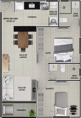 Apartamento para Venda em João Pessoa, Bessa, 2 dormitórios, 1 suíte, 2 banheiros, 1 vaga - Foto 7