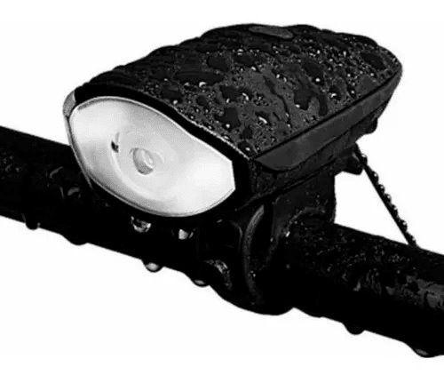 Lanterna Farol Led Bike C/ Buzina a Prova D'água Recarregável