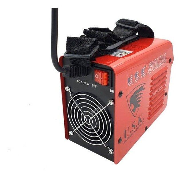 Maquina Solda Inversora Mini 232 Eletrodo Mma Tocha Tig Usk - Foto 4
