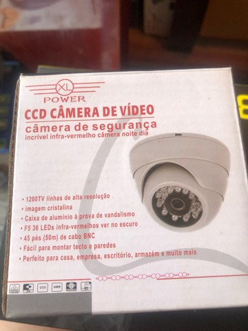 Câmera de segurança 36 Leds colorida