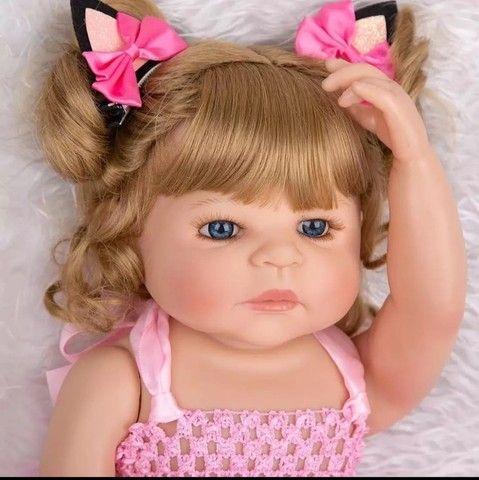 Bebê Reborn Keiumi Toda em Silicone, Menina  55 cm  Entrega Grátis e Imediata  - Foto 3
