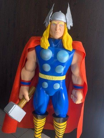 Boneco Thor Premium  Gigante vingadores 55 cm Colecionador  NOVO - Foto 5