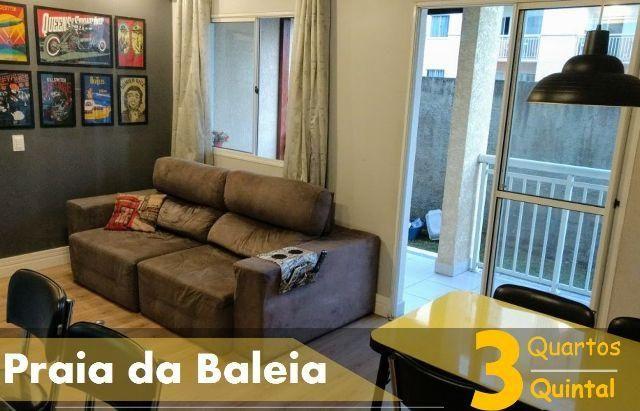 Apartamento 3 Qts/ Suíte com quintal - Lazer + Academia