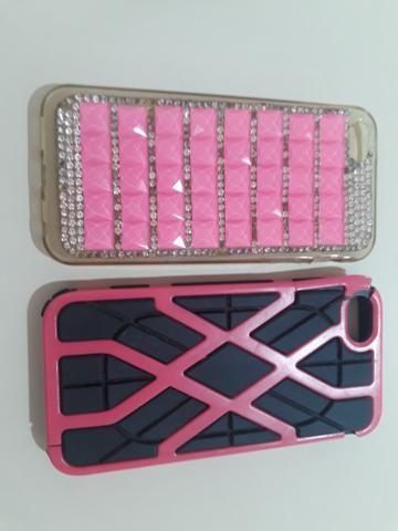 2 capinhas de iphone 5s