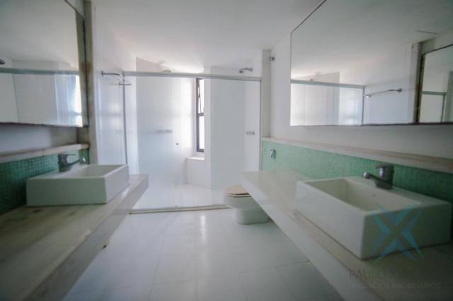 Apartamento vista mar com 4 dormitórios à venda, 352 m² por r$ 650.000 - antônio diogo - f - Foto 3
