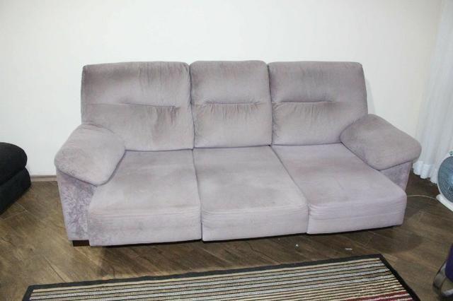 Sofá Cinza c/ Chaise Reclinável 2,17m - Foto 4