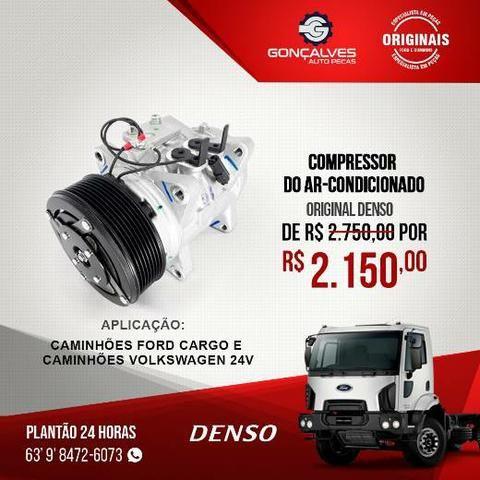 COMPRESSOR DO AR-CONDICIONADO ORIGINAL DENSO FORD CARGO / VW