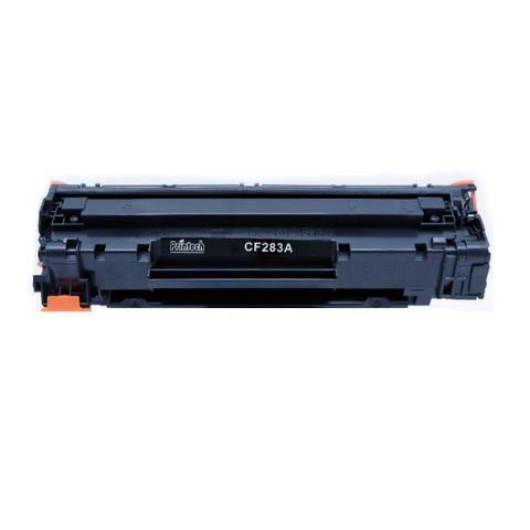 Cartucho de Toner HP CF283A compatível imprime 1,500 páginas.