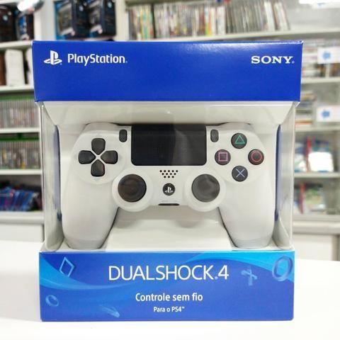 Últimas unidades Branco Controle de PS4 original Sony com garantia