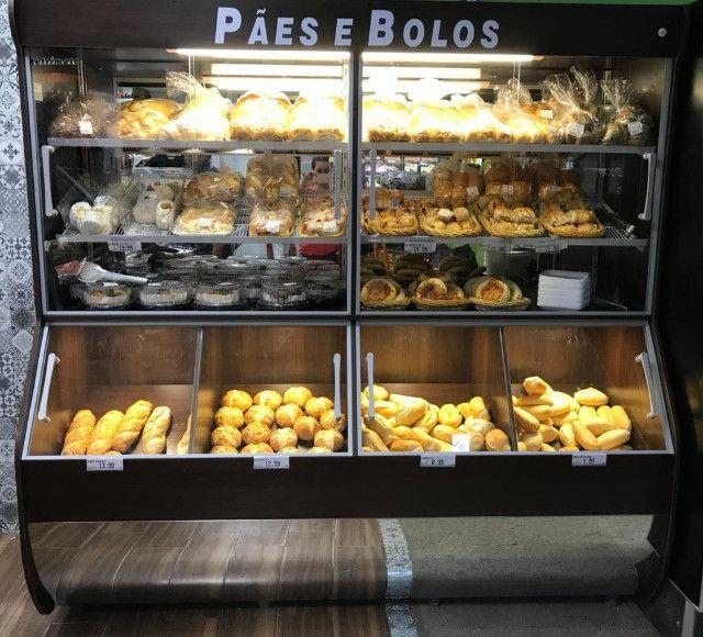 Vasca expositor de pães 2m com iluminação Nova Frete Grátis - Foto 3