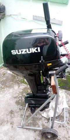 Motor de Popa Suzuki 15 HP - Barco - Foto 3