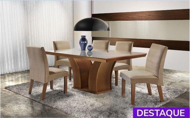 Conjunto Sala de Jantar Mesa 6 Cadeiras Leblon - Catálogo completo via whats