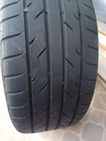Rodas aro 20 com pneus meia vida  - Foto 7