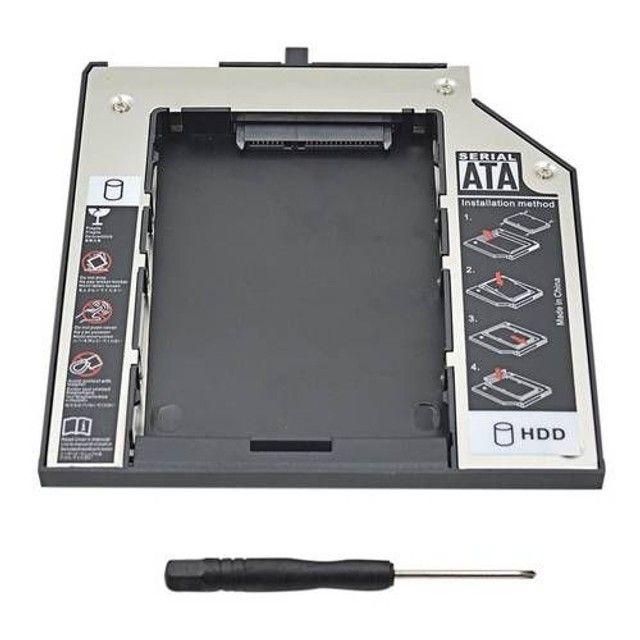 Case Adaptador Caddy Dvd HD Ssd 2.5 Sata Notebook - Entrega Grátis - Foto 4