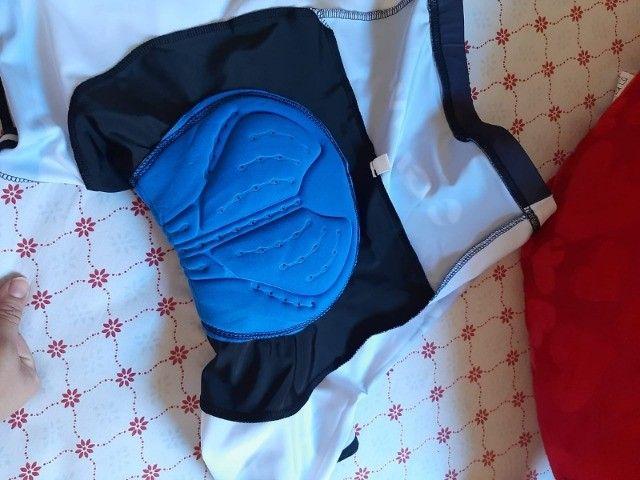 Bermuda de ciclismo com secagem rápida e almofada 9D - Foto 2