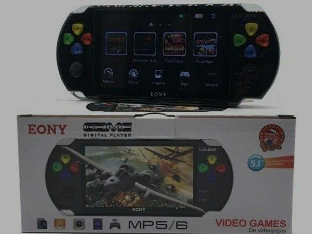 PSP Mini Vídeo Game Portátil Eony Mp5/6 Com Câmera - Foto 2