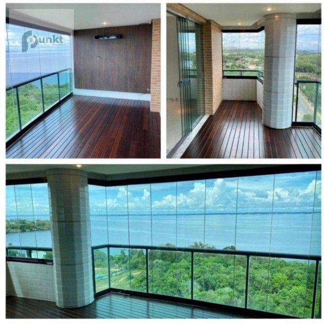 Apartamento com 4 dormitórios para alugar, 195 m² por R$ 7.000/mês - Ponta Negra - Manaus/