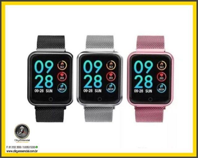 Relógio Inteligente SmartWatch P70 Android e Ios