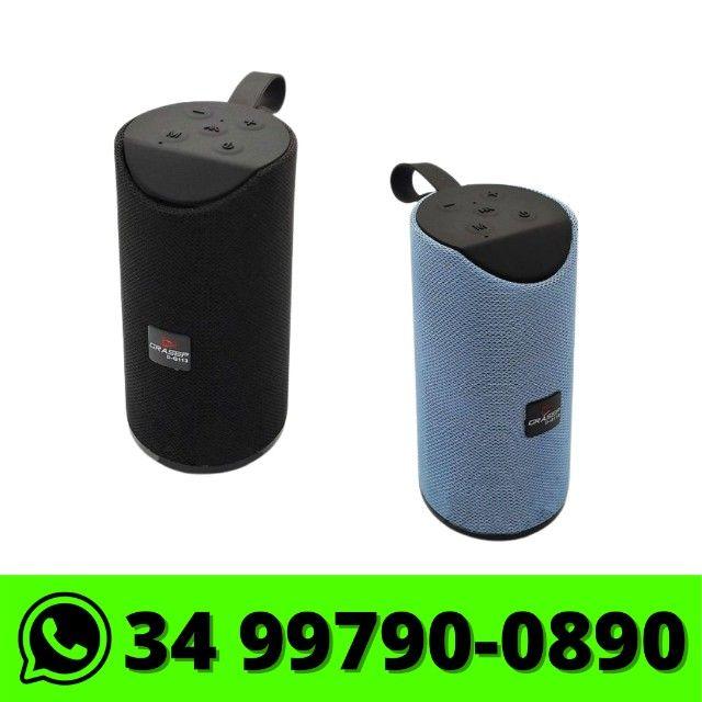 Caixa de Som Portátil Bluetooth Entrada Usb P2 Radio Fm