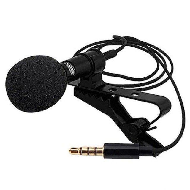 Microfone De Lapela P2 Para Celular Profissional 2 IN 1 Lavalier - Foto 2